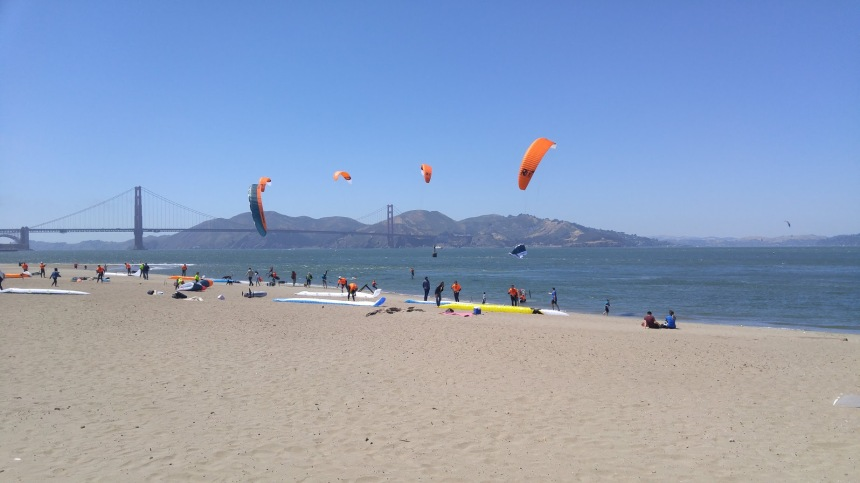golden gate kite surfing