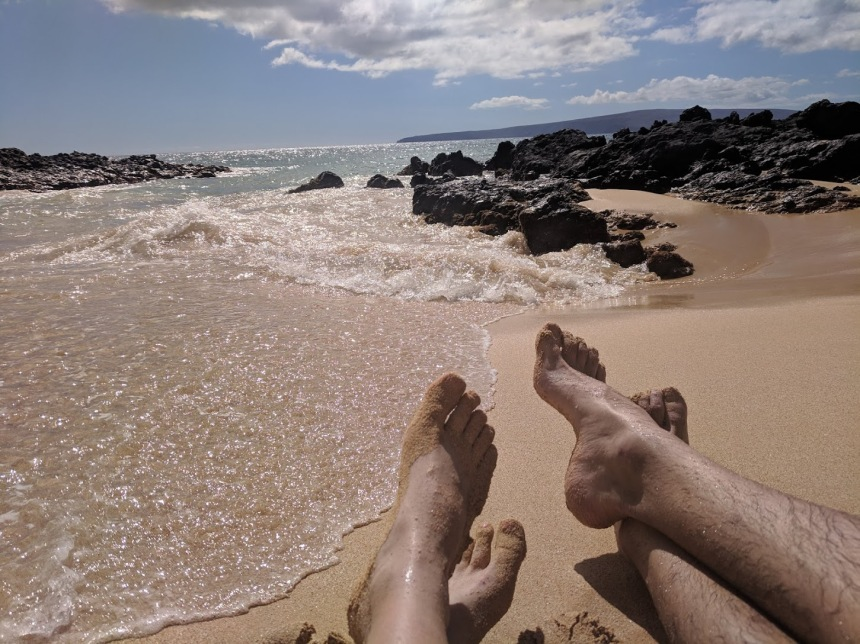 feet sand cove