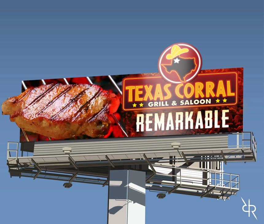 meat billboard
